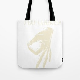 hole game clean looked circle game finger gift Tote Bag