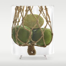 Fresh limes on the Net Shower Curtain