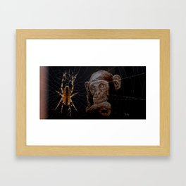 WATCHING THE SPIDER - cversion Framed Art Print