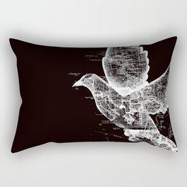 Wanderlust White Rectangular Pillow