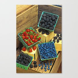 Boxed Berries Canvas Print