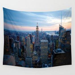 New York City Dusk Wall Tapestry