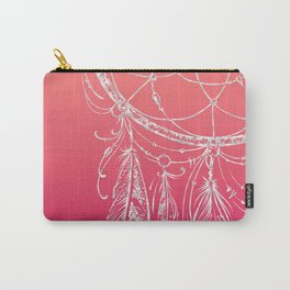 dream catcher on pink background Carry-All Pouch