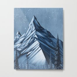 'Cystal Mountain I' Metal Print
