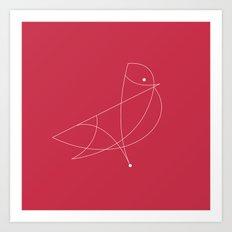 Contours: Cardinal (Line) Art Print