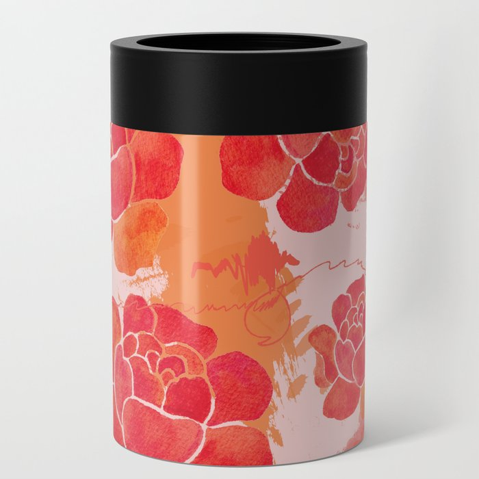 Vintage Peony Can Cooler