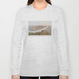 Vintage Pictorial Map of New York City (1866) Long Sleeve T-shirt
