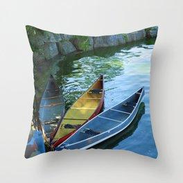 Canoe Tulip Throw Pillow