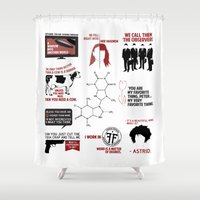 fringe Shower Curtains featuring Fringe Quotes by CLM Design