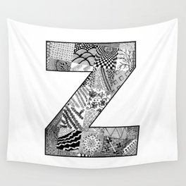 Cutout Letter Z Wall Tapestry