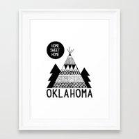 oklahoma Framed Art Prints featuring Oklahoma by Ashley Love