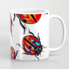 Lucky Ladybird  Beetles Coffee Mug