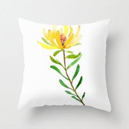 Golden Conebush Throw Pillow