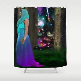 Keeper of the universe Shower Curtain