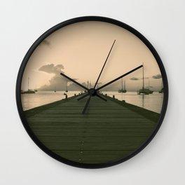 Sea Road Wall Clock