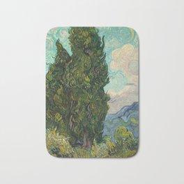 Cypresses - Van Gogh Bath Mat