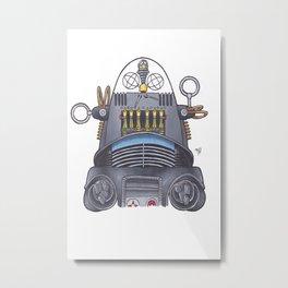 Robby the Robot Metal Print