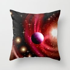 Stardust and solar wind. Throw Pillow
