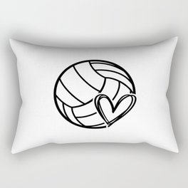 Volley love. Volleyball team coach gift Rectangular Pillow