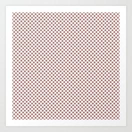 Canyon Rose Polka Dots Art Print