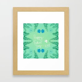Happy Fathers' Day 2018 Framed Art Print