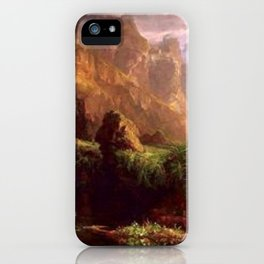 Voyage of Life: Childhood No. 1 of 4 by Thomas Cole iPhone Case
