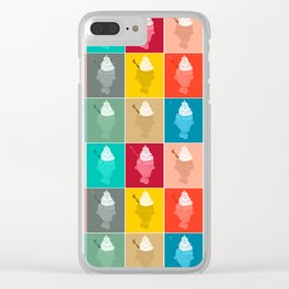 Taiyaki Pattern Clear iPhone Case