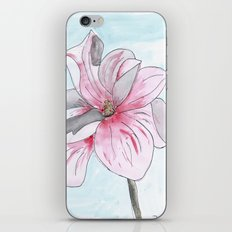 Magnolia Flower watercolor iPhone & iPod Skin