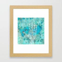 Agate Palm Reading Framed Art Print