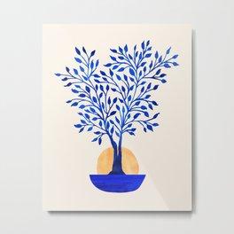Indigo Ficus Sunrise Metal Print