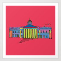 the national Art Prints featuring National gallery by PINT GRAPHICS