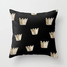 Crown Pattern Throw Pillow