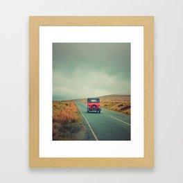 Vintage red car, Ireland Framed Art Print