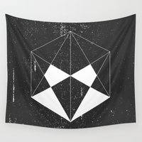 hexagon Wall Tapestries featuring Hexagon by eARTh