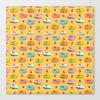 donuts Canvas Prints featuring Donuts by Evan Smith