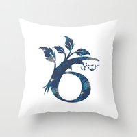 arabic Throw Pillows featuring S6 Arabic by Sumayyah Al Suwaidi