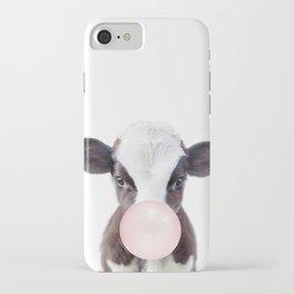 Bubble Gum Baby Cow iPhone Case