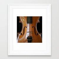 violin Framed Art Prints featuring Violin by Päivi Vikström