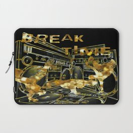 Break Time (black and gold vers.) Laptop Sleeve