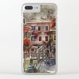 Murano Italy watercolor Clear iPhone Case