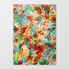 Flower Fight Canvas Print