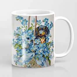 Dachshund and Forget-Me-Nots Coffee Mug