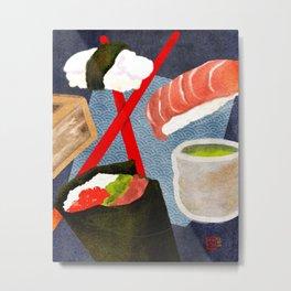 Dreams of Sushi, Sake, and Tea Metal Print