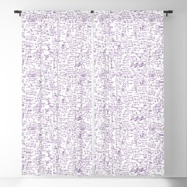 Physics Equations // Purple Blackout Curtain