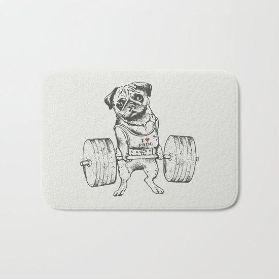 Pug Lift Bath Mat