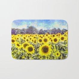 Sunflower Fields Of Summer Dreams Bath Mat