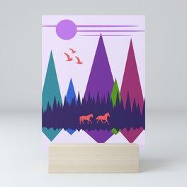 Two Horses Mini Art Print