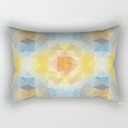 Kaleidoscopic design in soft colors Rectangular Pillow
