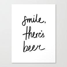 Smile - Beer Canvas Print