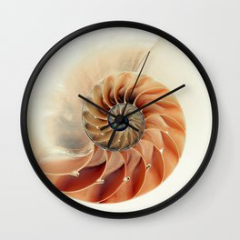 Shell of life Wall Clock